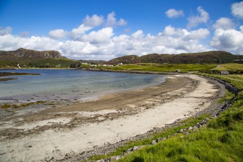 kranto, desolate, Highlands, loch, Šiaurė, griuvėsiai, pajūryje, pajūris, pajūris, Škotija, škotų, jūra, Sutherland, vandenynas, šventė, vanduo, papludimys, dangus, šiaurinė pakrantė, Škotija