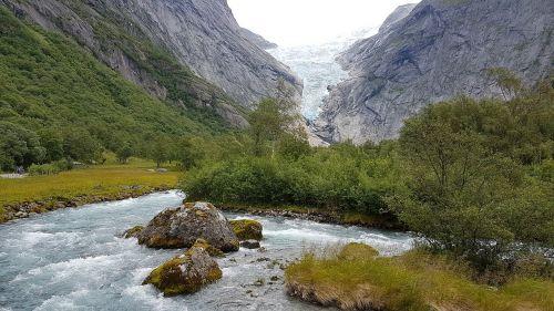 Norvegija,ledynas,ledynas ištirpsta,Geiranger,hellesylt,ledas,ledynas liežuvis,gamta,Skandinavija,kraštovaizdis,Briksdal,ežeras