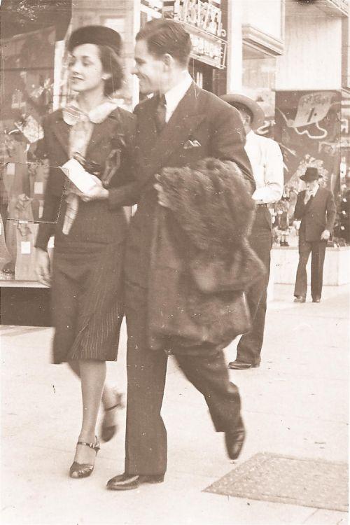 nostalgija, 1930-tieji metai, laimingas, žmonės, atostogos, džentelmenas, Lady, nostalgija