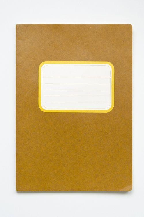 nešiojamojo kompiuterio,kopijavimo knygelė,pratybos,pastaba,popierius,švietimas,mokykla,tuščias,šablonas,padengti,rašyti,ruda,geltona,etiketė,a5,vintage,dizainas,retro,kūrybingas