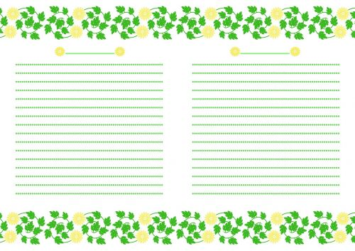 nešiojamojo kompiuterio,chrizantema gėlės,geltona,žalias,punktyrinė linija,lakštinis popierius,puslapis,sūkurys,lapai,balta,botanikos,augalas,natūralus,gėlių dizainas,popierius