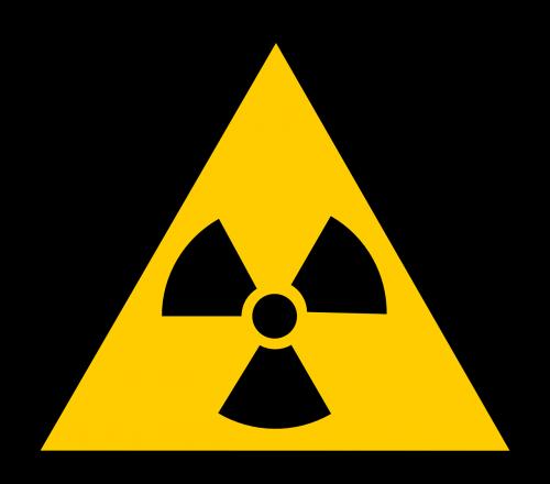 branduolinė,zona,ženklas,simbolis,spinduliavimas,perspėja,geltona,trikampis,formos,įspėjimas,pavojingas,pavojingas,rizikingas,reaktorius,radioaktyvus,nemokama vektorinė grafika