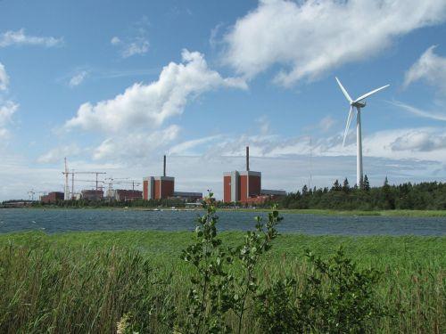 atominė jėgainė, vėjo energija, atsinaujinanti energija, vėjo energija, atominė energija, aplinka, finland, energija, atominė energija, branduolio dalijimas, branduolinė, radiacija, branduolinis reaktorius, elektrinė, atominė energija, dabartinis, radioaktyvus, atomas, uranas, olkiluoto, reaktorius