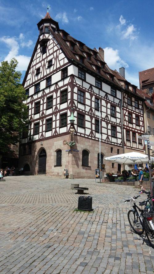 Niurnbergas,albrecht dürer,fachwerkhaus