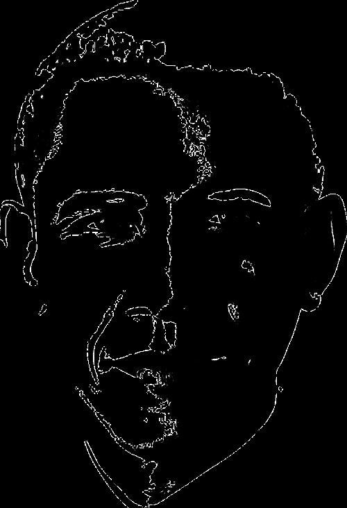 Obama,vyras,asmuo,žinomas,prezidentai,usa,amerikietis,įžymus asmuo,charakteris,juoda,Patinas,veidas,portretas,nemokama vektorinė grafika
