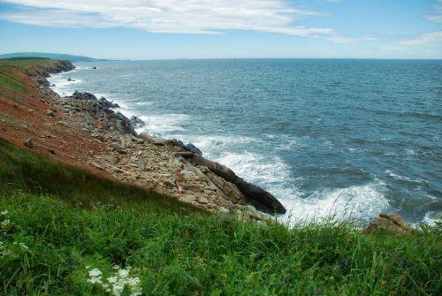 vandenynas,Atlanto vandenynas,skala,uolos,kranto,Krantas,pakrantė,Kanada