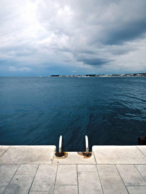 vandenynas,jūra,vanduo,maudytis,kopėčios,maudytis,Promenada,oras,niekas,tuščia