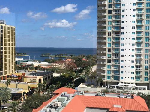 jūros vaizdas,pastatai,panorama,miestas,jūra,st pete