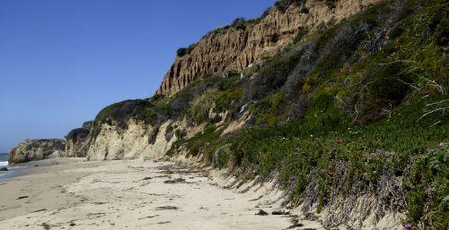 uolos, kalnas, papludimys, smėlis, smėlio, Krantas, kraštovaizdis, kalnai, uolos, vandenynų uolos