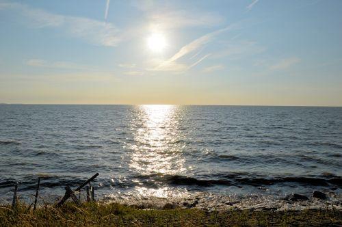 pažymėkite & nbsp, daugiau, daugiau, rytas, vanduo, panorama, saulė, atspindys, rytas