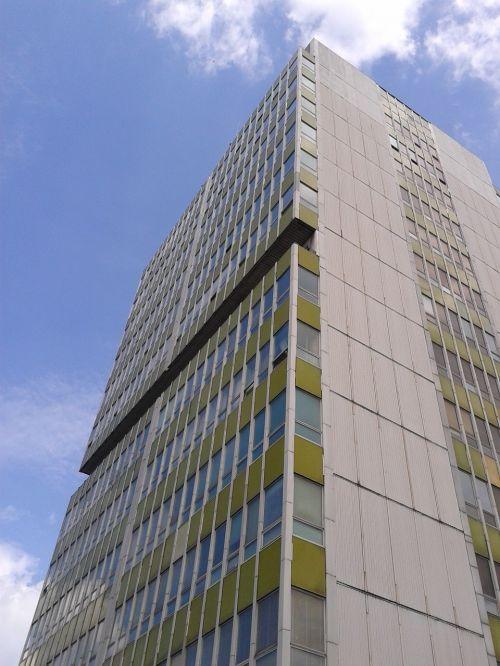 biurų pastatas, skreperis, dangoraižis, architektūra