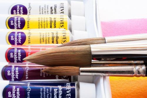 alyvos dažai,spalva,tirpus vandenyje,vamzdeliai,spalvinga,balta,geltona,raudona,mėlynas,violetinė,meno dažai,dažyti,šepetys,stiprinti įvairius,karpyti plaukų šepečius,aukštos kokybės,spalvų modeliai