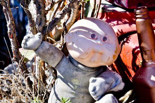 lėlės, paliktas, atmesta, pilka, spalva, kopūstai & nbsp, pleistras, senas, mesti, toli, Halloween, baisus, vampyras, senoji kopūstų pleistras