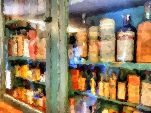 laikyti, šalies parduotuvė, pardavimas, prekes, senas, nuostabus, Impresionistas, Impressionistinis, tapybos, dažytos, meno, senosios šalies parduotuvės prekės