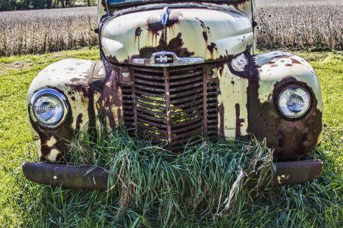 paliktas, sunkvežimis, skilimas, rūdys, rusvas, erytys & nbsp, sunkvežimis, kaimo nykimas, kaimas, senas sunkvežimis