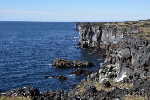 öndverðarnes,uolos,uolos,vulkaninis uolas,jūra,Rokas,snæfellsnes pusiasalis,iceland,gamta,kraštovaizdis,vanduo,kranto,akmenys,vulkaninis
