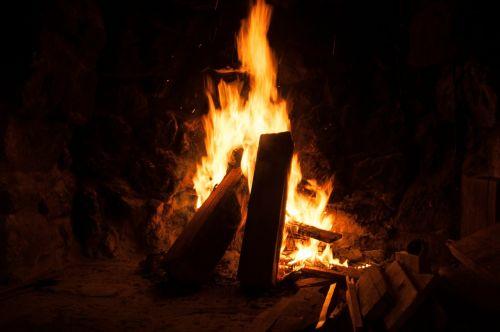 Atvira Ugnis, Ugnis, Mediena, Deginti, Blaze, Liepsna, Židinys, Romantiškas, Medžio Ugnis, Šiluma, Medis Židiniams