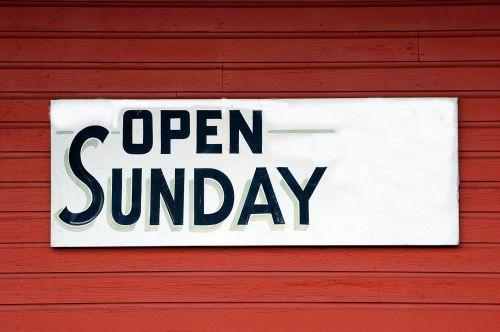 atviras & nbsp, ženklas, ženklai, atviras & nbsp, sekmadienis, laikyti, parduotuvė, informacija, izoliuotas, atviras sekmadienis ženklas