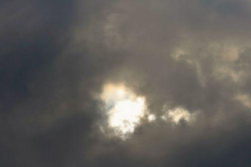 dangus, debesys, tamsi, atidarymas, šviesa, atidarytas tamsiame danguje