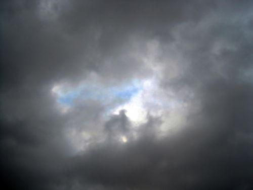 dangus, pleistras, mėlynas, debesys, apylinkes, atidarytas debesyse