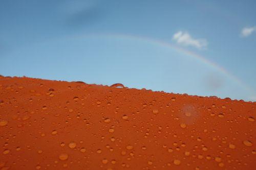 oranžinė,lašas,vaivorykštė,vanduo,lietus,saulėta diena,Iš arti,lašai,diena