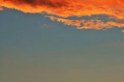 dangus, saulėlydis, debesis, oranžinė, kraštas, oranžinis debesų kraštas