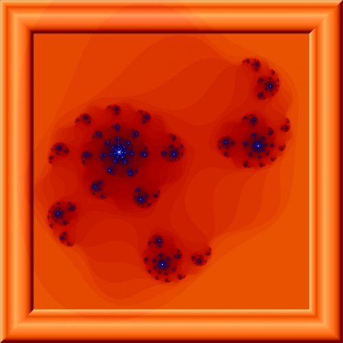 rėmas, stiklas, 3d, oranžinė, fraktalas, poveikis, oranžinis fraktalas