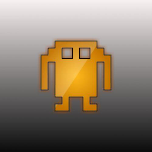 tapetai, robotas, mašina, dirbtinis, žvalgyba, gradientas, pilka, fonas, oranžinė, oranžinis robotas