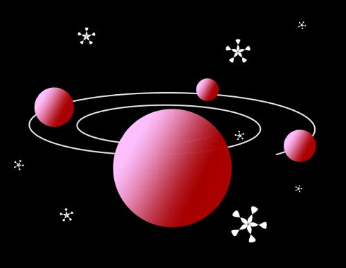 Orbita,orbita,planetos,mėnulis,saulės sistema,erdvė,visata,nemokama vektorinė grafika