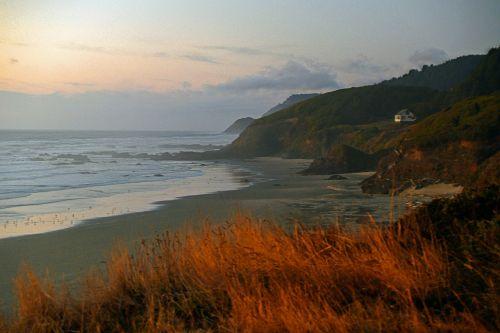 oregonas,kranto,Ramiojo vandenyno regionas,pajūris,papludimys,dusk,nuostabus paplūdimys,pajūryje,smėlio paplūdimys