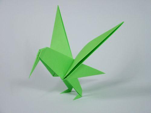 origami,lankstymas,paukštis