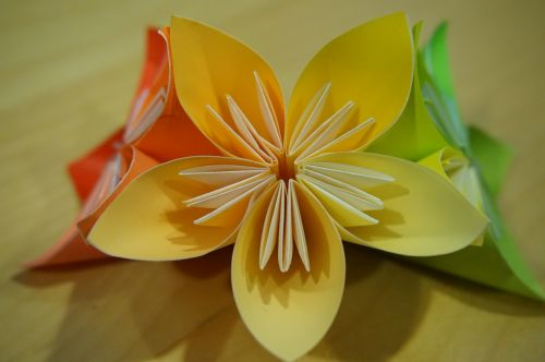 origami,gėlė,popieriaus lankstymas,moduliai