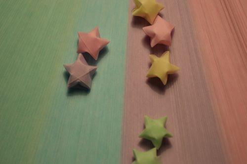 origami,žvaigždės,paperstrips