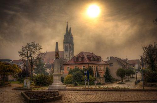 Oschatz,Saksonija,rūkas