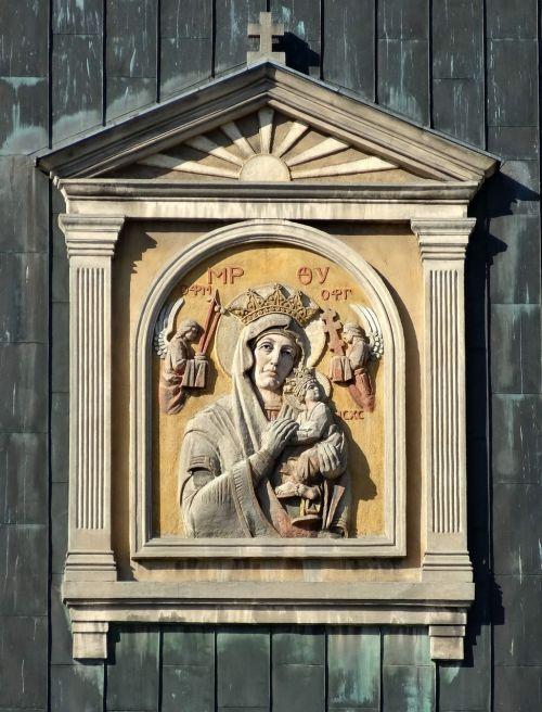 mūsų ponios nuolatinės pagalbos ponia,bažnyčia,Bydgoszcz,Lenkija,religija,palengvėjimas,meno kūriniai,krikščionybė