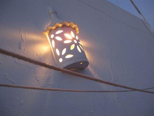 lempa, šviesa, apšvietimas, šiltas, lauke, lauko lempa