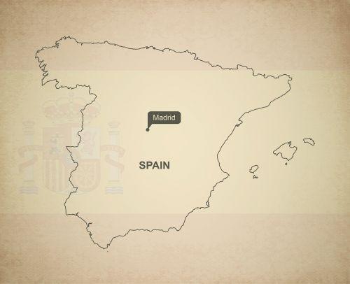 kontūrai,žemėlapis,Ispanija,geografija,Šalis,žemėlapiai,Europa,tikslus,vėliava