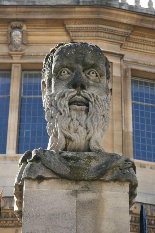 Oxford, Anglija, statula, biustas, Oxford england statula biustas