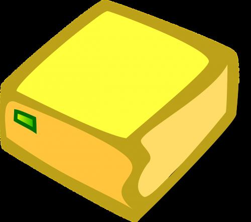 paketas,kompiuteris,siuntas,dėžė,geltona,nemokama vektorinė grafika