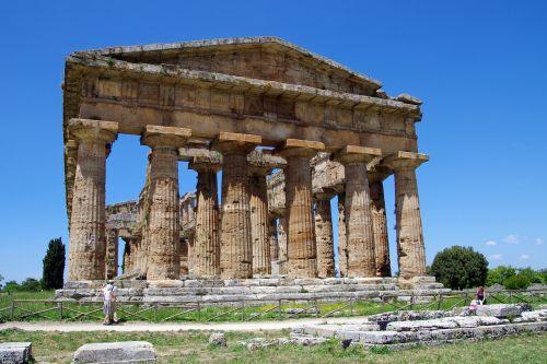 paestum,Salerno,italy,Neptūno šventykla,magna grecia,senovės šventykla,graikų šventykla,doric stiliaus,archeologija