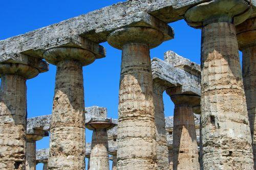 paestum,Salerno,italy,graikų šventykla,stulpeliai,Neptūno šventykla,magna grecia,doric stiliaus,archeologija,doric stulpeliai
