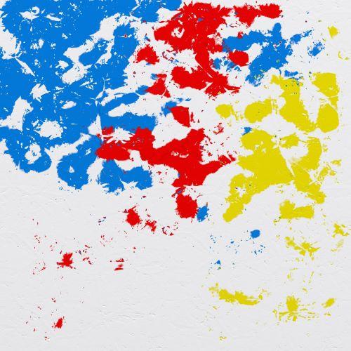 Iliustracijos, clip & nbsp, menas, iliustracija, grafika, skaitmeninis & nbsp, menas, modernus & nbsp, menas, abstraktus, fonas, modelis, tekstūra, dažyti, splats, plyšimas, blot, dėmė, raudona, geltona, mėlynas, dažyti plaktuku fone