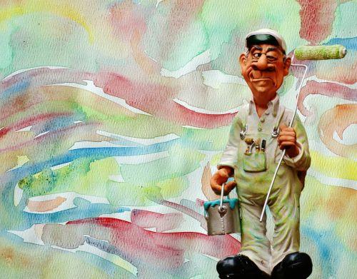 dailininkas,Ištrinti,darbas,figūra,dailininkas dirba,dažyti,spalva,darbas,dažymas,Roll,renovuoti,namo dailininkas,rašalo ritinėliai,juokinga,mielas,deko,apdaila,amatų