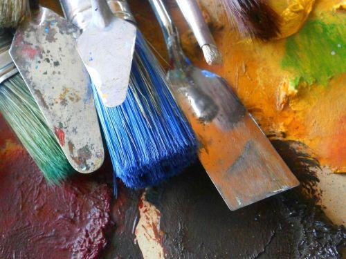 dailininkas,šepečiai,dažymo teptukai,meno šepečiai,meno šepečiai,menas,paletė