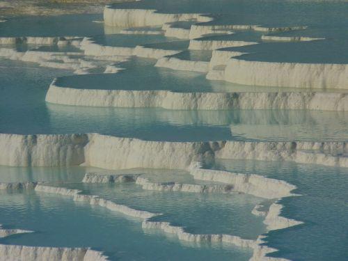pamukalė,kalkių terasos,kalcio,Unesco,kalkakmenis,Turkija,kraštovaizdis,mineralinis,terminiai šaltiniai,vanduo