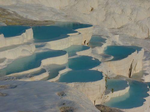 pamukalė,kalkių terasos,sinterterrasse,kalcio,Unesco,kalkakmenis,Turkija,kraštovaizdis,mineralinis,terminiai šaltiniai,vanduo