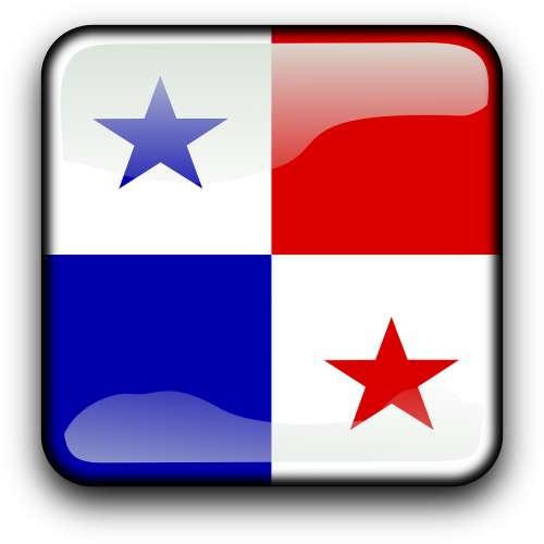 panama,vėliava,Šalis,Tautybė,kvadratas,mygtukas,blizgus,nemokama vektorinė grafika
