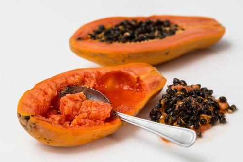 papajos,tropiniai vaisiai,Pawpaw,prinokę,egzotiškas,saldus,sultingas,mityba,vitamino C,sveika mityba,vaisių salotos,papaw,šviežias vaisius,prinokę vaisiai