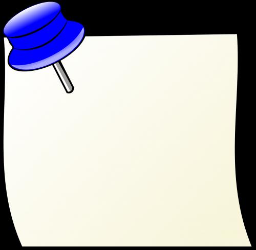 popierius,kuprinė,pastebėti,tuščias,thumbtack,skelbimų lenta,biuletenis,skelbimų lenta,Raštinės reikmenys,priminti,skelbimas,popierius,rašyti,nemokama vektorinė grafika