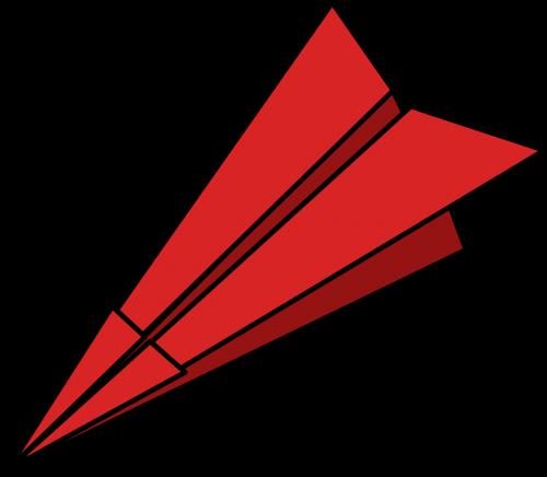 popierinis lėktuvėlis,sulankstytas,popieriaus lazdelė,popierinis lėktuvas,menas,dizainas,plūdė,perdirbtas,raudona,nemokama vektorinė grafika